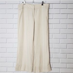 LOFT wide leg linen pants
